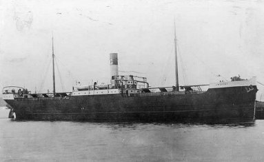 Contract #1, the 310 foot long oil tanker, J.M. Guffey, as seen after completion in June 1902
