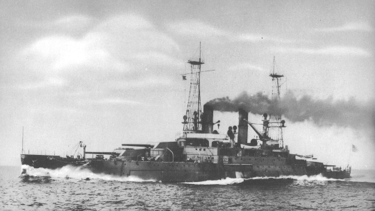 "The Michigan, delivered in August 1909, third of seven pre-World War I battleships, was the first of the ""dreadnought"" type in the U.S. Navy."