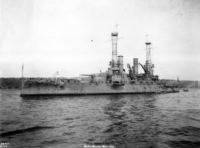 Photograph of the Battleship USS Michigan in 1912. From the National Archives.