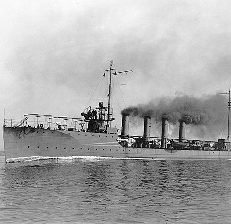 USS Preston (DD-19) underway in 1912.